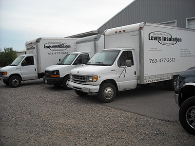 Lewis Insulation Service Trucks